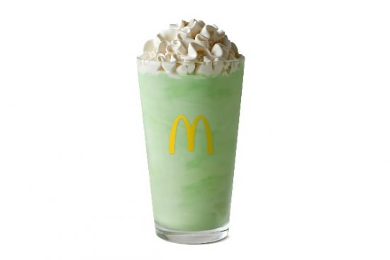 McDonald's Shamrock Shake is a sweet, minty annual treat.