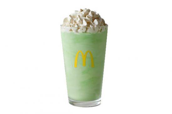 McDonald's Shamrock Shake is a sweet, minty annual treat.