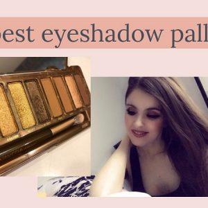 Anne Erickson modeling off eyeshadow.